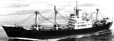mv Fourah Bay at sea, 1968